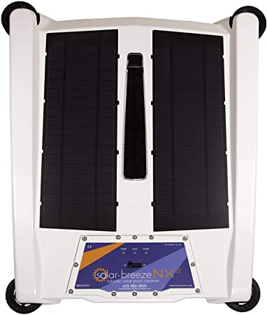 front facing solar breeze nx2 pool cleaning robot