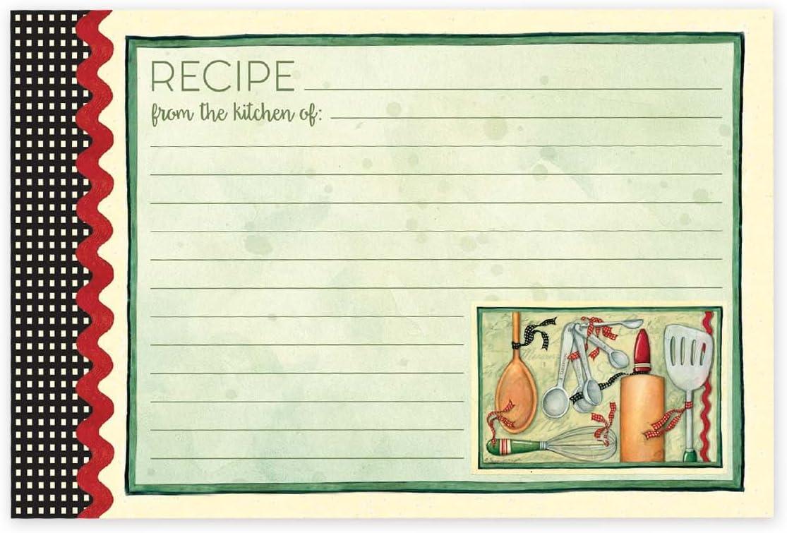 Black /& White Brownlow Gifts Recipe Cards 4 x 6