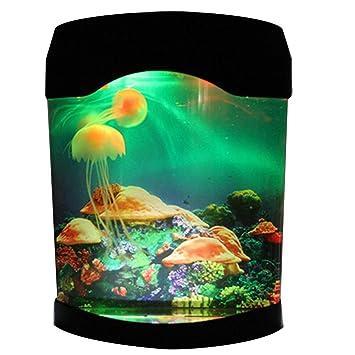 Novedad LED medusas artificiales iluminación del acuario luz nocturna: Amazon.es: Productos para mascotas
