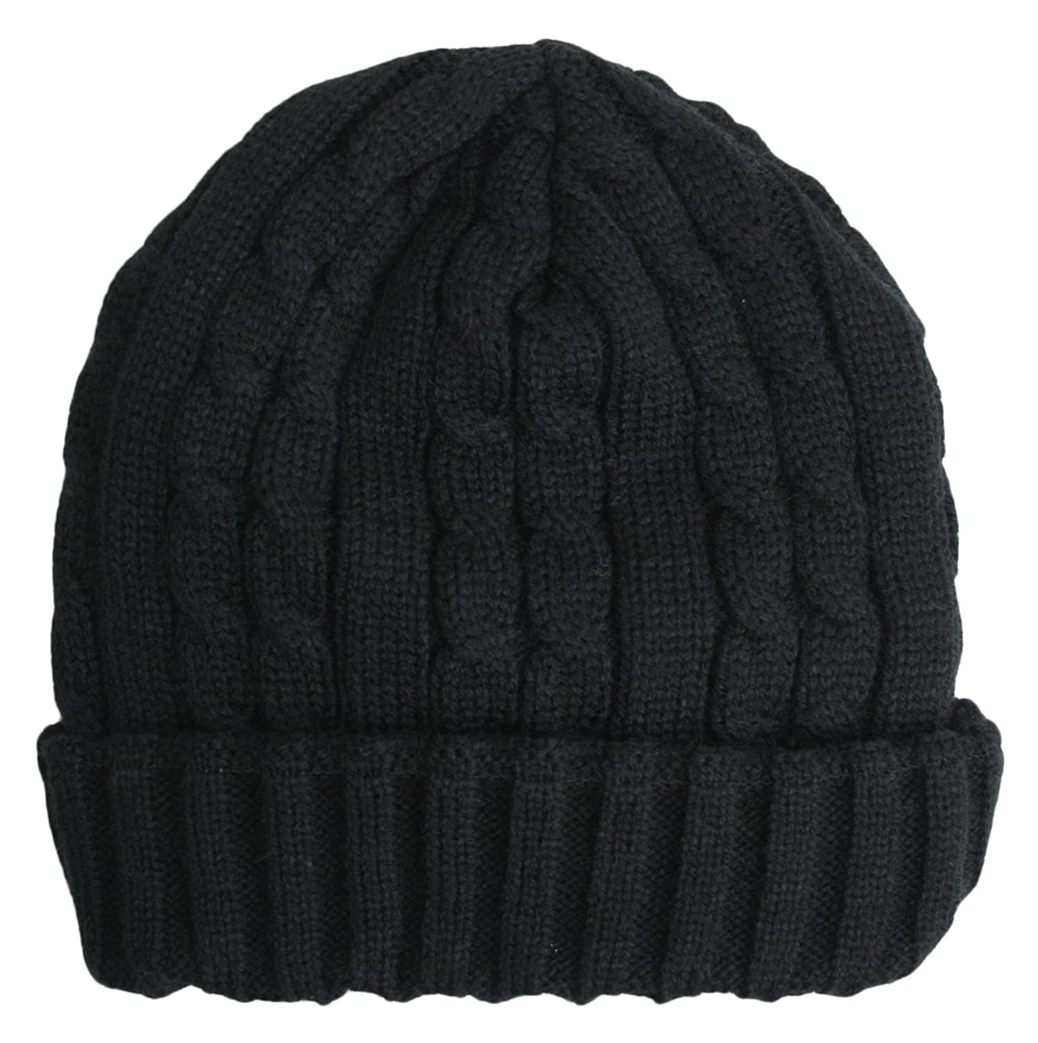 Trendy Winter Warm Soft Beanie Cable Knitted Hat Cap for Women and Men