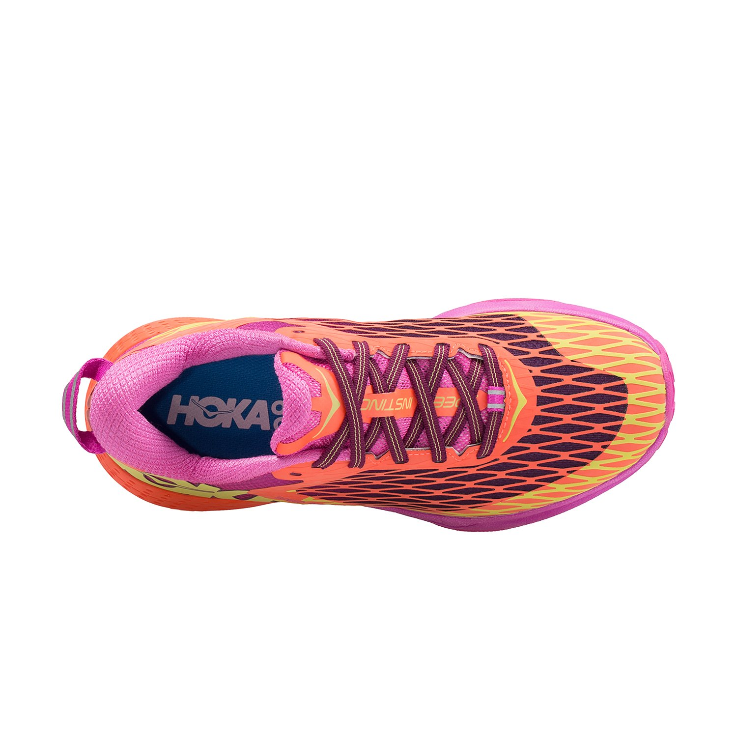 HOKA ONE ONE Women's Speed Instinct Shoe B01AXG8IYK 10 B(M) US|Neon Coral/Plum