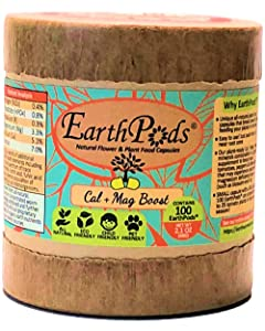 EarthPods Best Cal Mag Plus Plant Food – Easy Organic Fertilizer Spikes – 100 Capsules – Growth Nutrients (Great on Rose, Tomato, Pepper, Vegetable Garden, Stop Blossom End Rot, Ecofriendly)