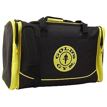 98b13043b3 Gold s Gym 2017 Large Sports Duffel Bag Mens Gym Bag  Travel Holdall  Black Gold