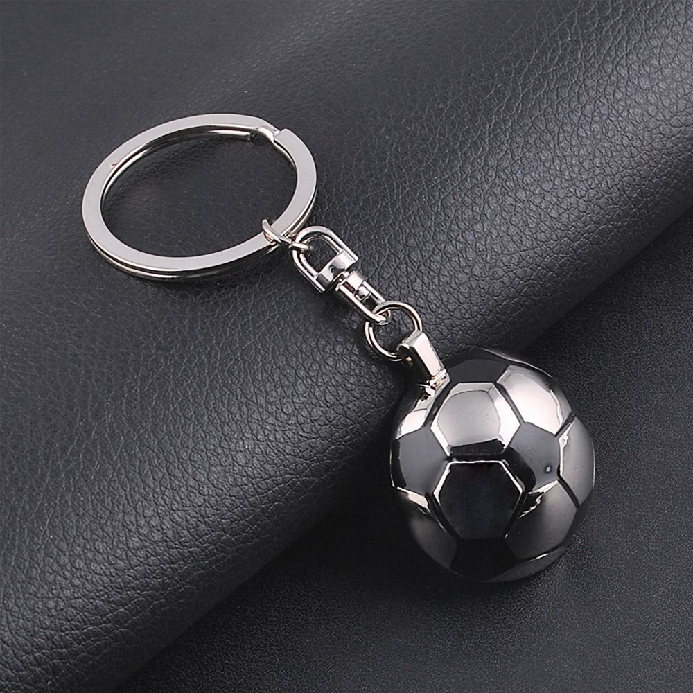 Yuchoi Creative Metal Soccer Keychain Football Car Keyring for Word Cup (Silver)
