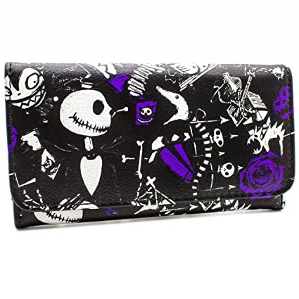 Cartera de Burton Nightmare Jack Skellington Púrpura: Amazon ...