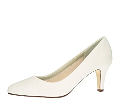 Rainbow Club Brautschuhe Brooke Pumps Off White Weiss Metallic