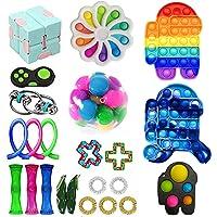 Fidget pack billigt, fidgetleksaksset billigt med skrattelsiffror, sensoriska fidgetleksaker paket för barn vuxna…
