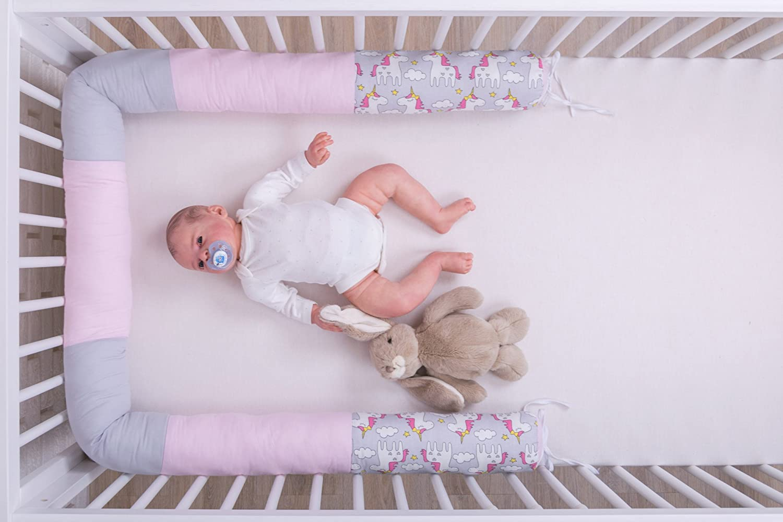 Amilian Bedding Snake Bumper Cot Bumper Bed Roll 210/cm BOA06