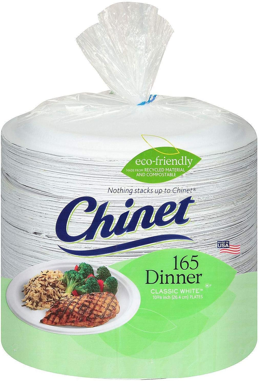 Chinet Paper Compartment Plates - 165 ct.
