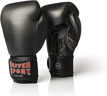 Muay Thai K1 und Anderen Kampfsportarten Paffen Sport Black Logo Echtleder-Boxhandschuhe f/ür das Sparring und Training im Boxen Kickboxen