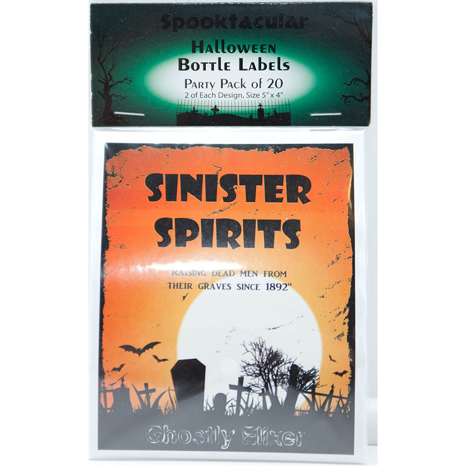 halloween spooky bottle labels