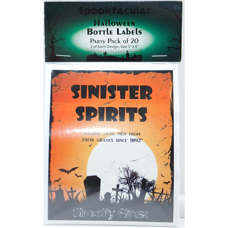 halloween spooky bottle labels