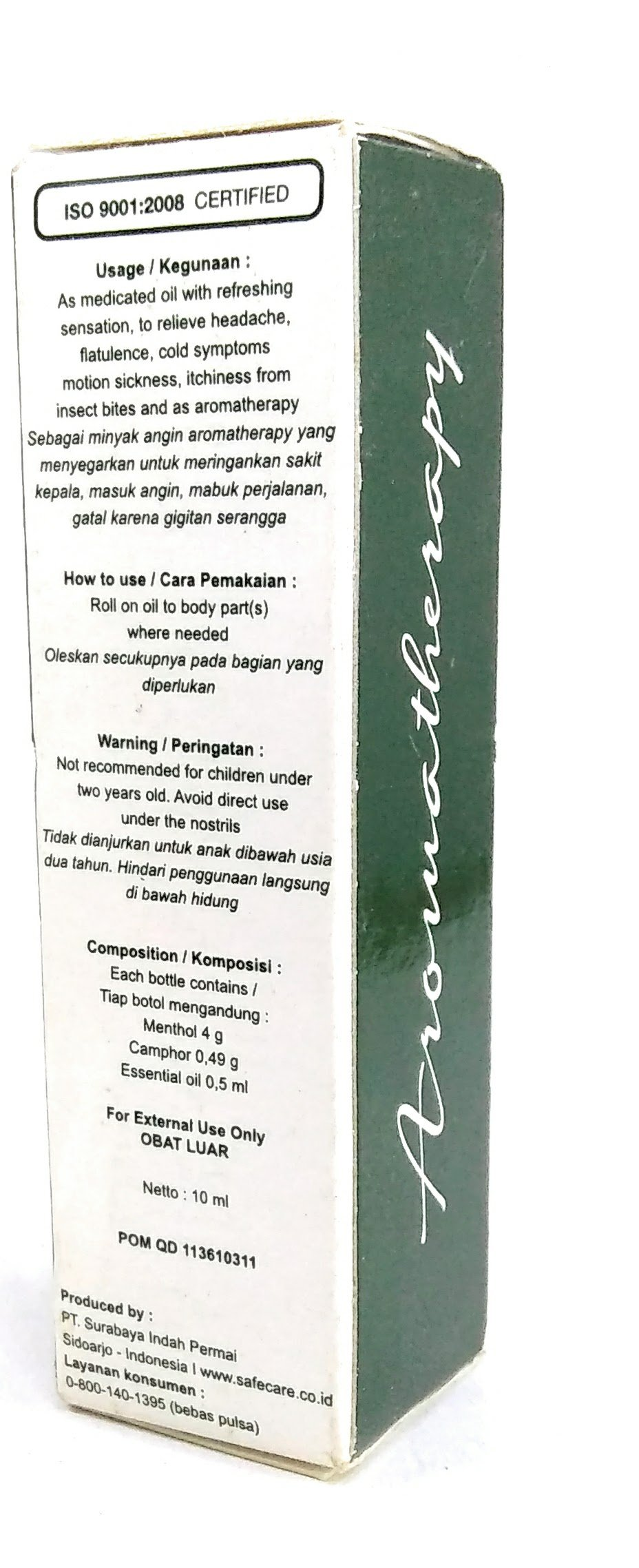 Safe Care Roll on Refreshing Oil Aromatherapy, 10 Ml (Pack of 3) by Safe Care (Image #2)