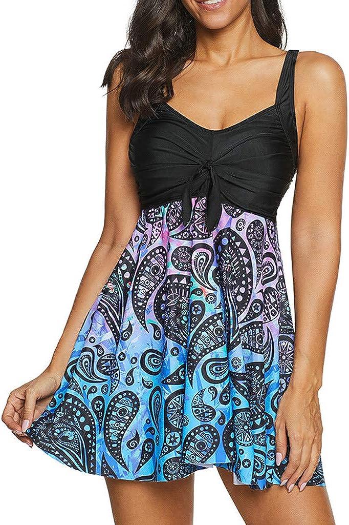 Beach Wear for Women,Plus Size Vintage Print Tankini Swimjupmsuit Swimsuit Beachwear Swimwear