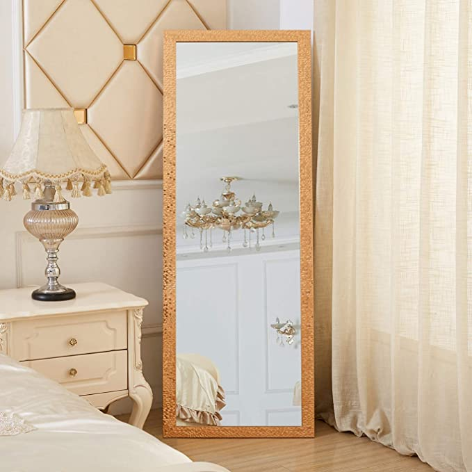 """Gifts for Women Birthday Gifts for Her Golden Mosaic Style Long Full Length Mirror 163 X 54CM 64 X 21/"""" Rose Home Fashion Dual-Use Full Length Mirror /& Large Wall Mirror"""