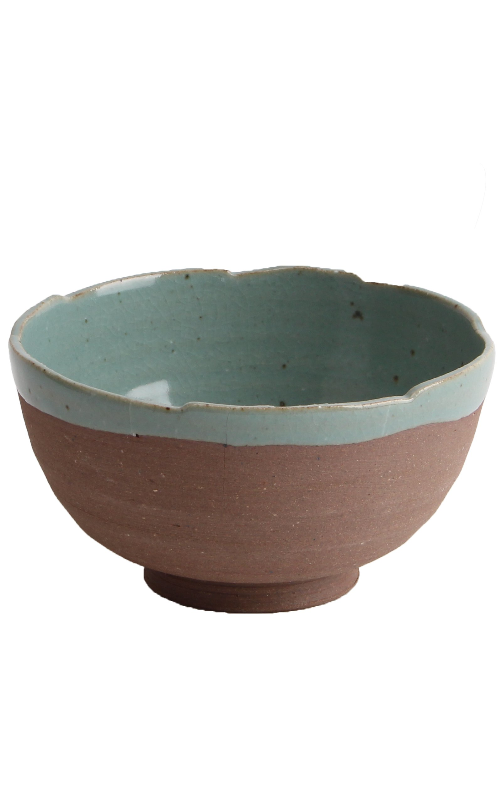 Yido Pottery Handmade Two-Tone Bowl, Medium(12.5oz), Cheongyeon