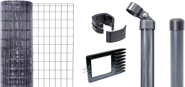 zum Einbetonieren 25 m // 1220 mm Set Fix-Clip Pro GAH-Alberts anthrazit