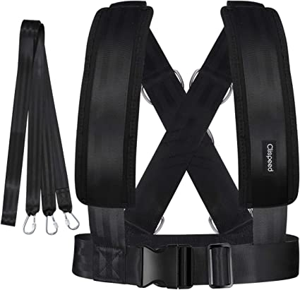 CLISPEED 1PC Adjustable Fitness Neck Head Harness for Resistance Training Black, One Size