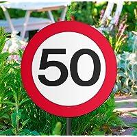 CREATIVE Fiesta de cumpleaños jardín señal de tráfico–50th
