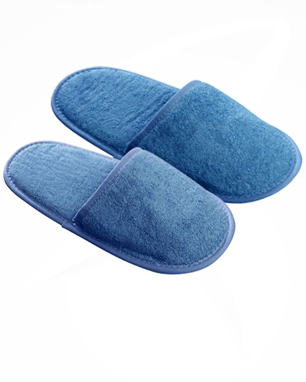 Armani International Irrésistible Close Toe Terry Cloth Slippers S/M Blue