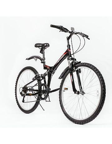 adult folding bikes amazon ELC AMX zoyo 26 folding mountain bike foldable hybrid 7 speeds full suspension for adults muter