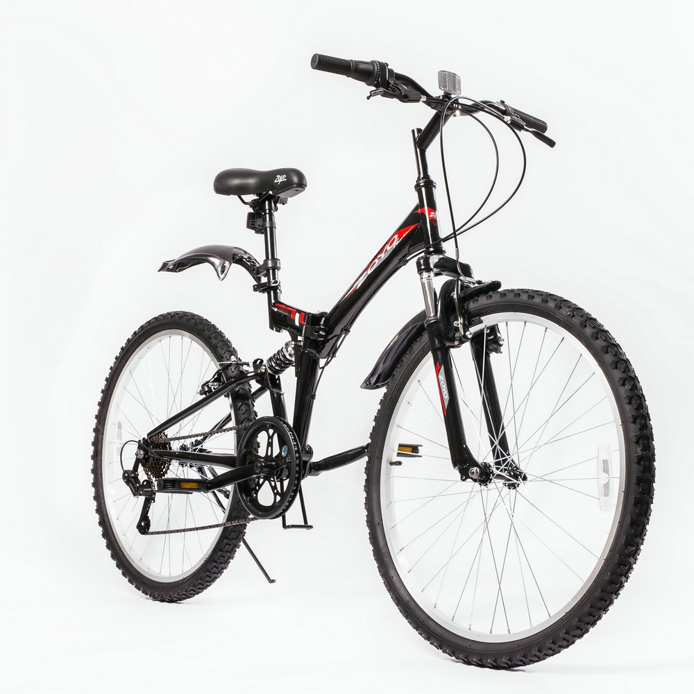 Folding Bikes Eco Velo Element Mtb Fullsus Pride 20 Greey Red Zoyo 26 Mountain Bike Foldable Hybrid 7 Speeds Full Suspension For Adults Commuter