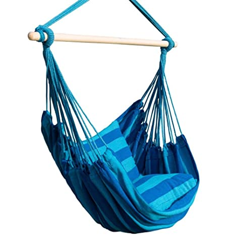 Amazon Com Bormart Hanging Rope Hammock Chair Large Cotton Weave