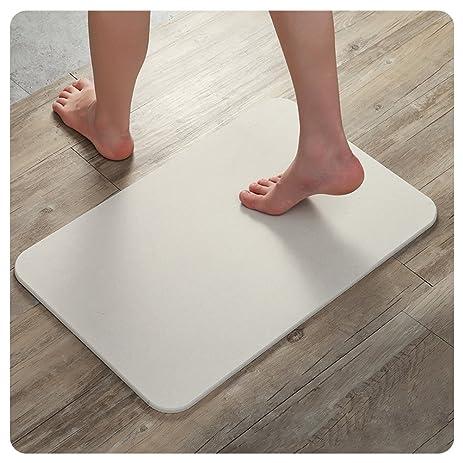 HaloVa Bath Mat, Diatomaceous Earth Natural Antibacterial Anti Slip Bathroom  Floor Mat, Fast Drying