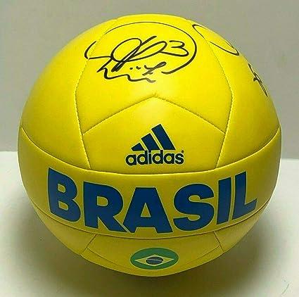 100% genuine recognized brands buy Thiago Silva And David Luiz Signed Yellow Adidas Brasil ...