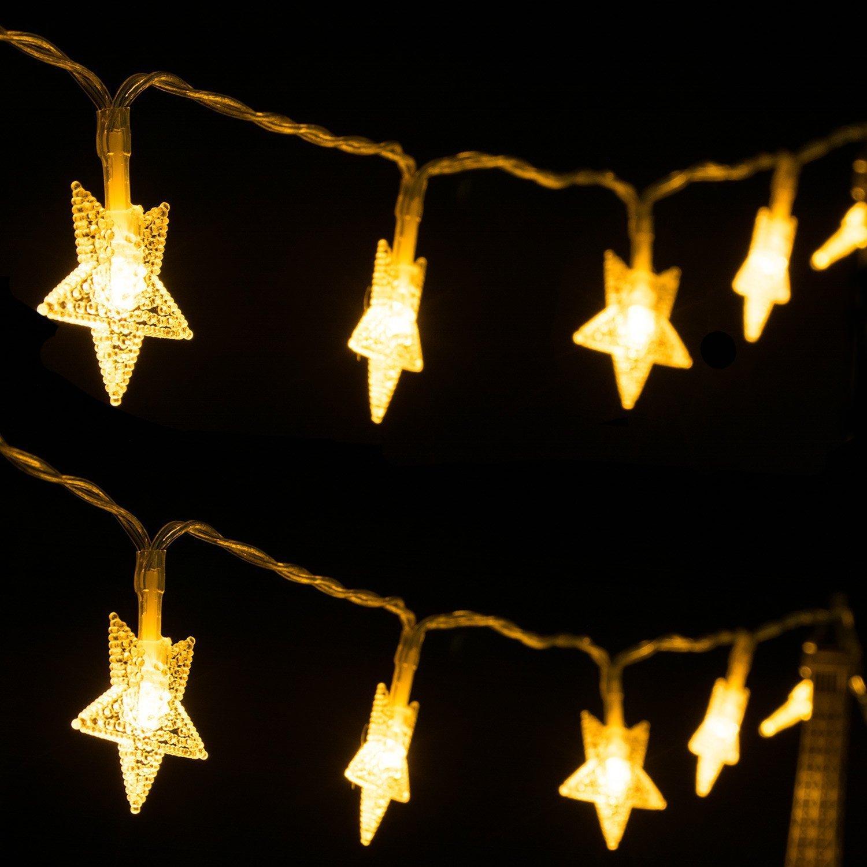 Led Lichterkette Innen Weihnachtsbeleuchtung 40 LED Batterie ...