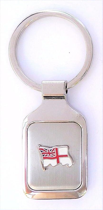 Royal Navy RN Blanco Ensign bandera ondulado cepillado acero ...