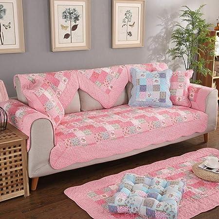 Funda de sofá de algodón para jardín Protector de Muebles Funda de sofá en Forma de L Protector para Mascotas Fundas de sofá Antideslizantes Antimanchas, jardín 1,70 * 180 cm (28x71 Pulgadas):