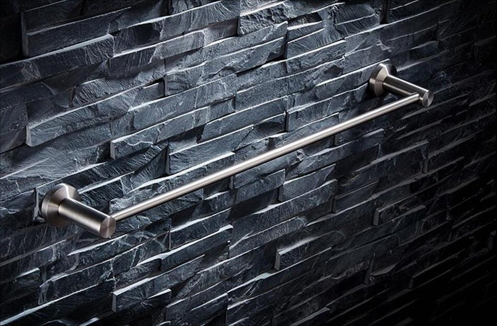 タオルバー 304ステンレス鋼タオルラック、バスルームタオルラック、シングルタオルバー、バスルームの棚 ( サイズ さいず : 80センチメートル ) B07CKM546B 80センチメートル 80センチメートル