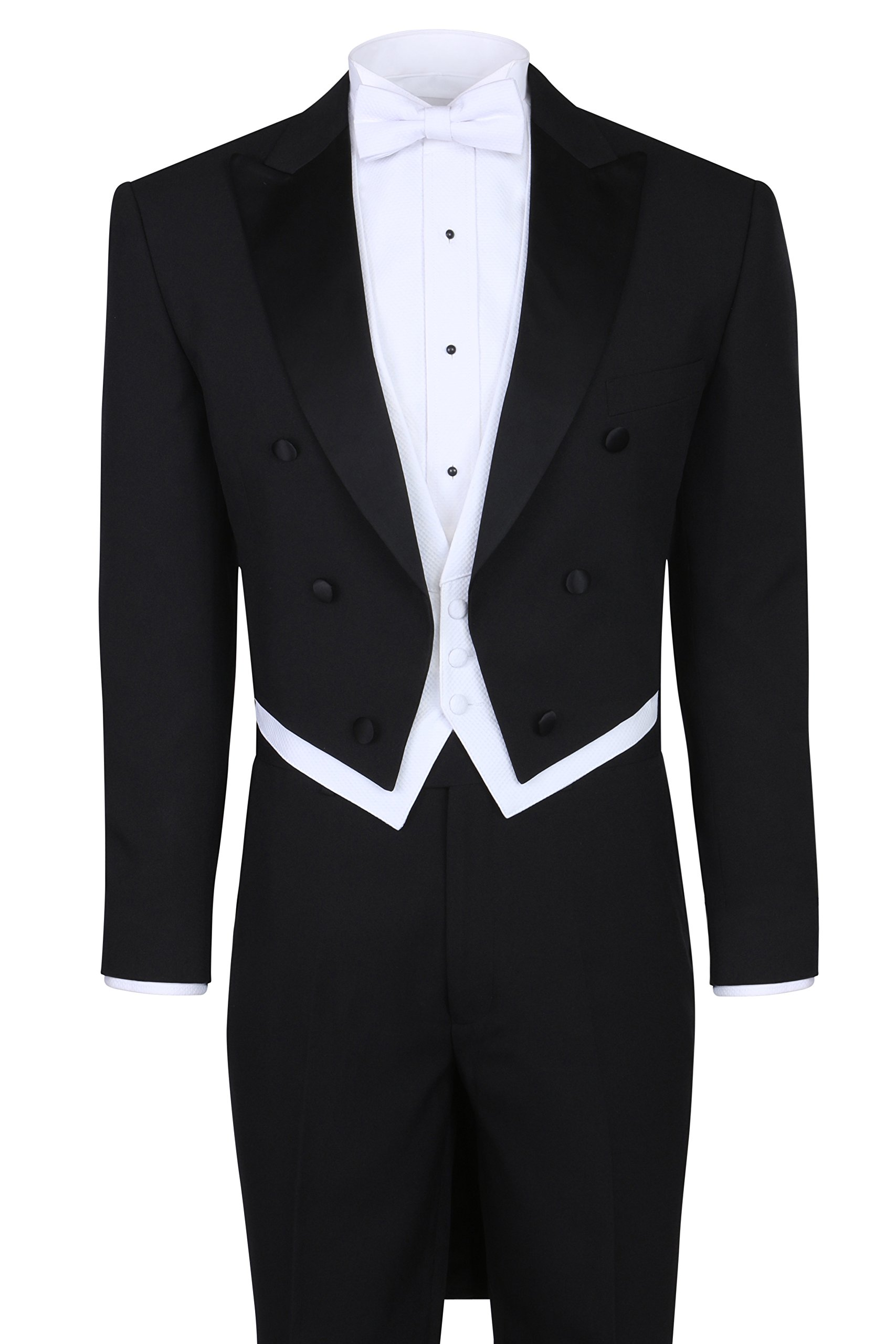 S.H. Churchill & Co. Black Tailcoat Tuxedo & Tuxedo Pants - 38 Long