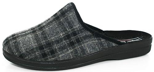 Wapititoo - Zapatillas de Estar por Casa de Lona Hombre, Gris (Gris