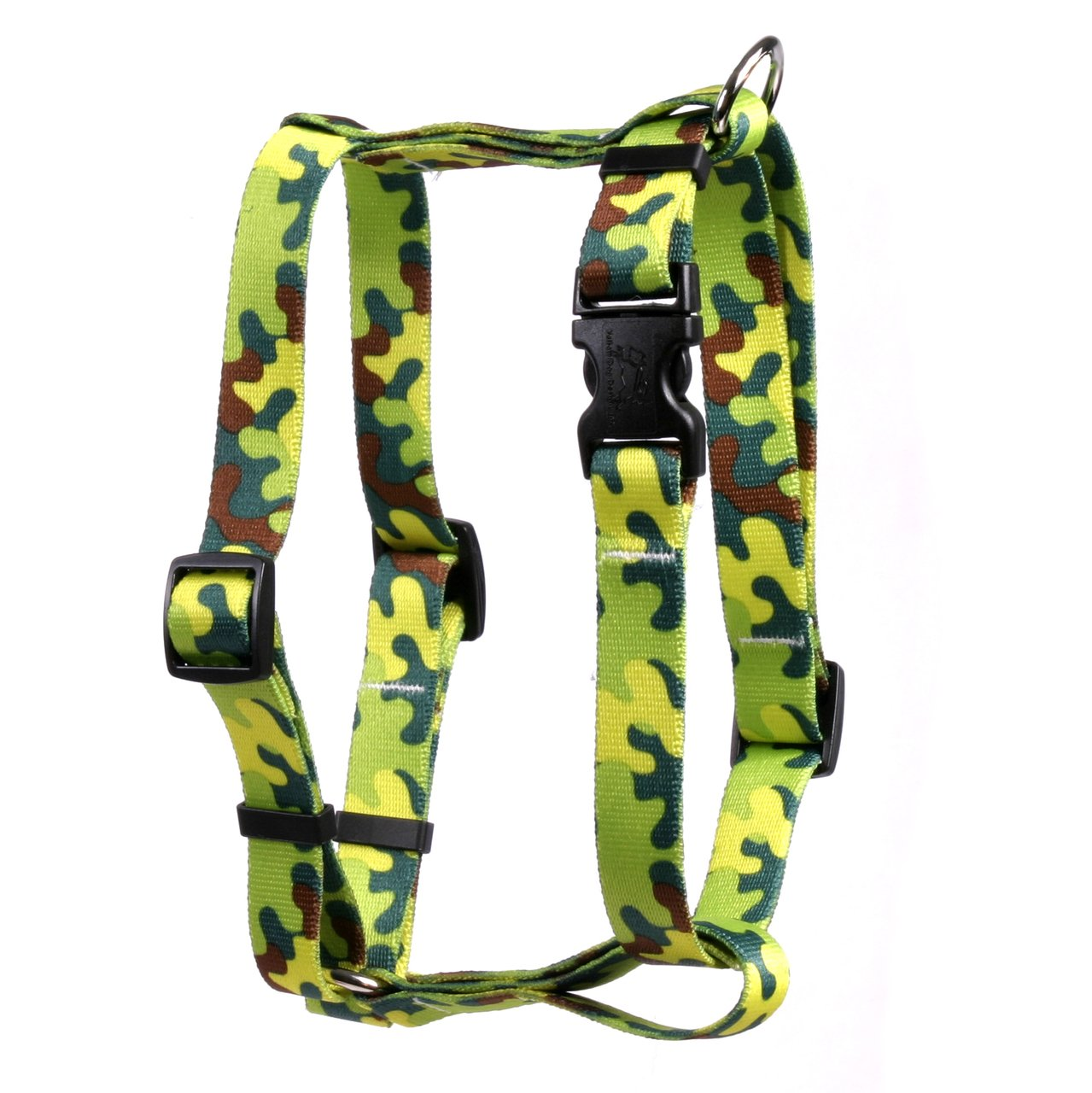 Yellow Dog Design Neon Camo Roman Style H Dog Harness, X-Large-1'' Wide and fits Chest of 28 to 36''