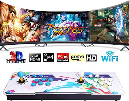 BSEND WiFi Pandoras Box Arcade Game Console, 4300 Classic Games Installed,  Support WiFi Function to Add More Games, 3D Game, 1280x720 Full HD, Search/  ...