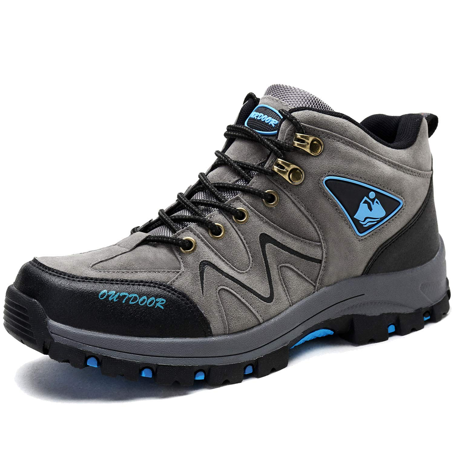 f8a602c877dfdb BIGU Hiking Boots Men's Mountain Climbing Ankle Boots Waterproof Hiking  Shoes Lightweight Outdoor Sport Trainers High Top Trekking Shoes Walking  Sneakers