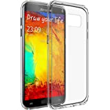 Galaxy S7 Edge Case, LUVVITT [ClearView] Hybrid Scratch Resistant Back Cover with Shock Absorbing Bumper for Samsung Galaxy S7 Edge - Clear