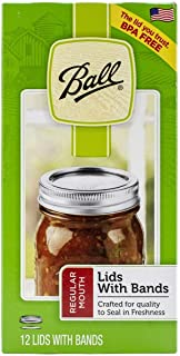 product image for Ball Mason Jar Regular Mouth Lids and Bands (12-Pack)