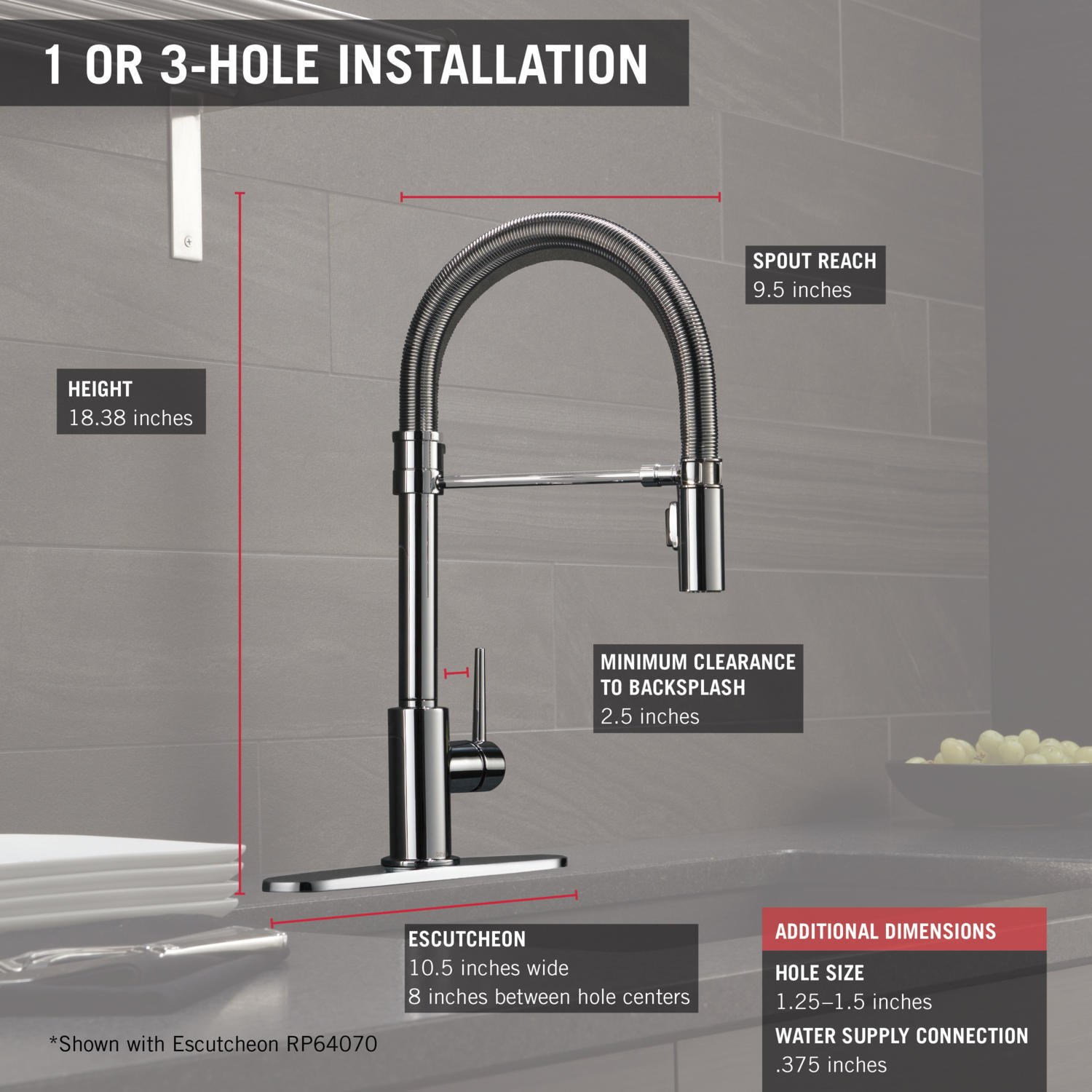 Delta Faucet 9659-DST Trinsic Pro Single Handle Pull-Down Kitchen ...
