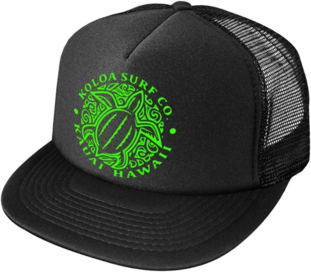 Koloa Surf Hawaiian Turtle Honu Poly-Foam Mesh Snapback High Profile Trucker Hat