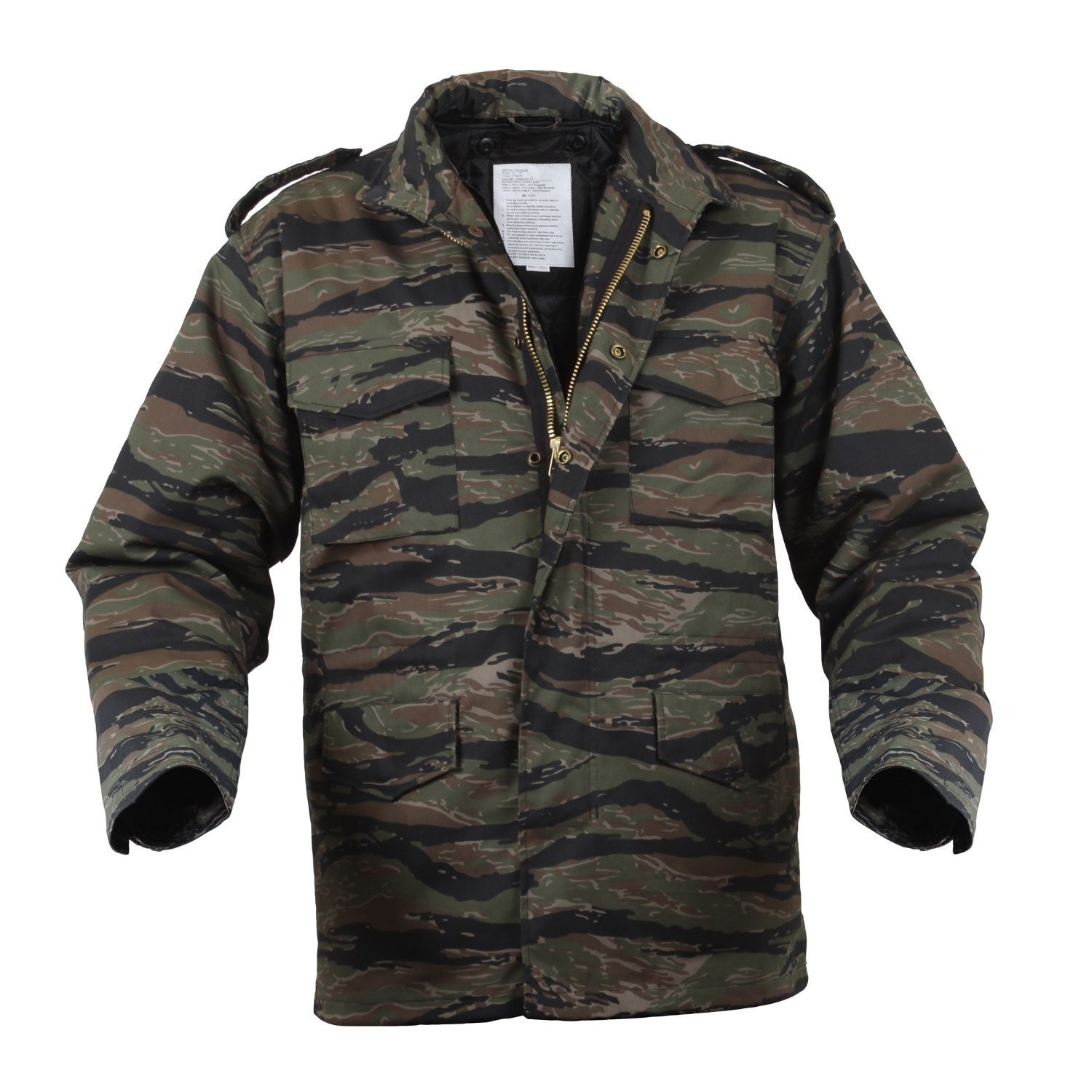 3d79c0c191ea0 Amazon.com: Rothco M-65 Field Jacket With Liner - TIGER STRIPE: Sports &  Outdoors
