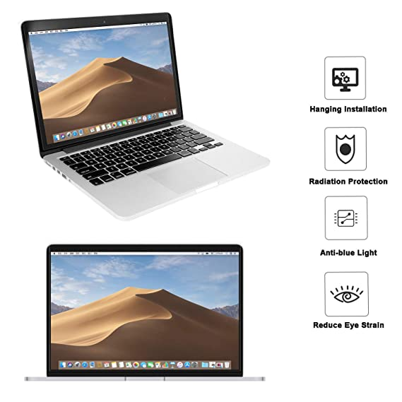 11.89 x 7.83 inch//L x W 13.3 MOSISO 13-13.5 inch Laptop Blue Light Blocking Screen Protector Anti-UV Eye Protection Filter Film for Diagonal 13 13.5 inch 16:9 Widescreen Notebook LED Monitor Panel