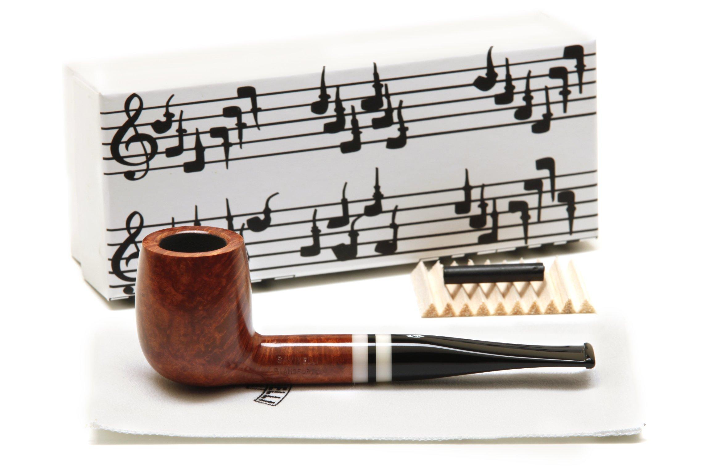 Savinelli Pianoforte 128 Smooth Tobacco Pipe