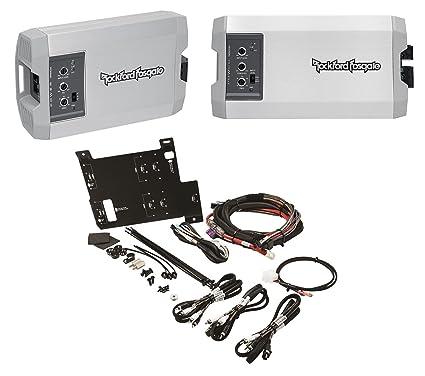 amazon com rockford fosgate polaris rzr 2 ch mono amplifiers wire rockford fosgate polaris rzr 2 ch mono amplifiers wire harness mounting plate