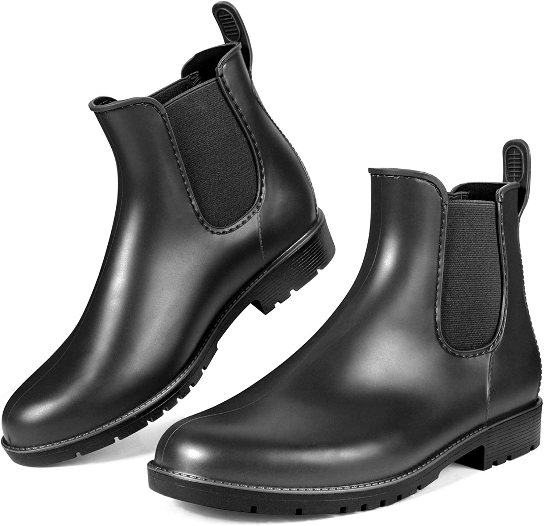 DKSUKO Rain Boots for Women Waterproof