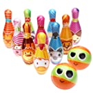 iBaseToy Kids Bowling Set, Bowling Games for Indoor and Outdoor Kids Bowling Play Set Foam Ball Toys Preschool Gifts for Early Development/Sport for Toddlers/Boys/Girls (10 Pins and 2 Bowling Balls)