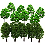 Sharplace 30 Pcs 1:150 Plastic Model Tree HO N Scale Train Layout Miniature Model Tree