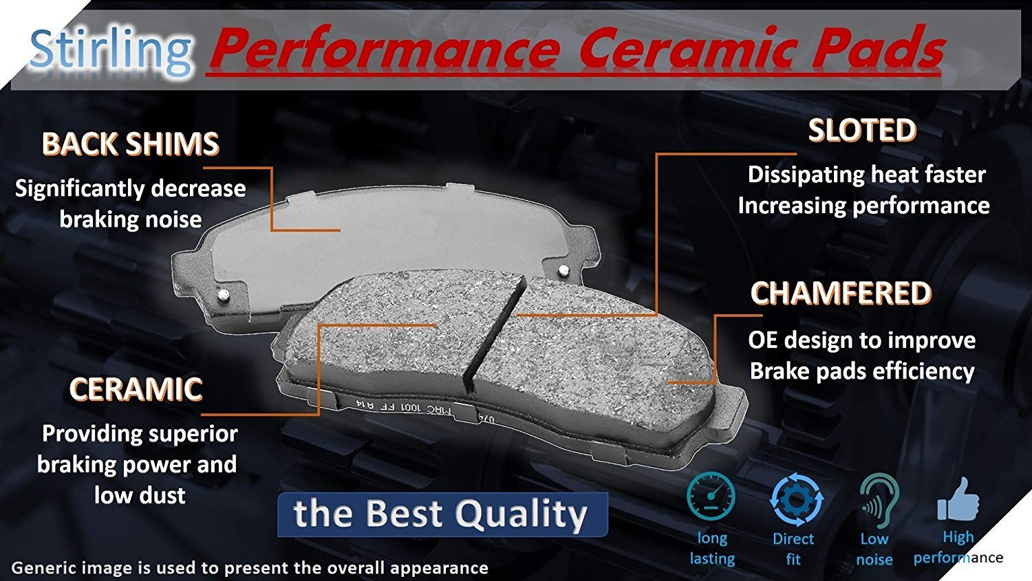 One Year Warranty For Both Left and Right 2016 for Nissan Leaf Front Premium Quality Disc Brake Rotors And Ceramic Brake Pads